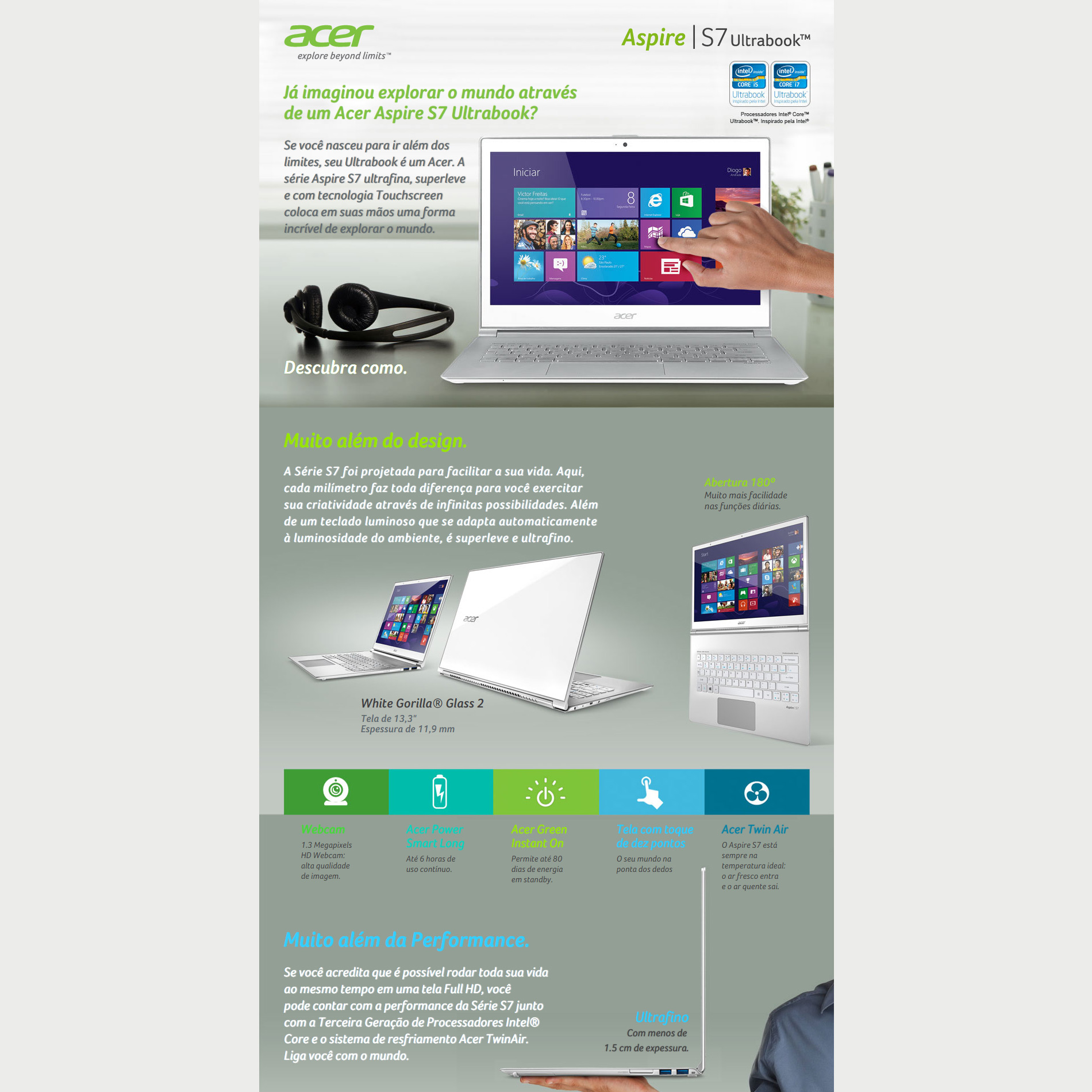 Hotsites-Landing Page Acer