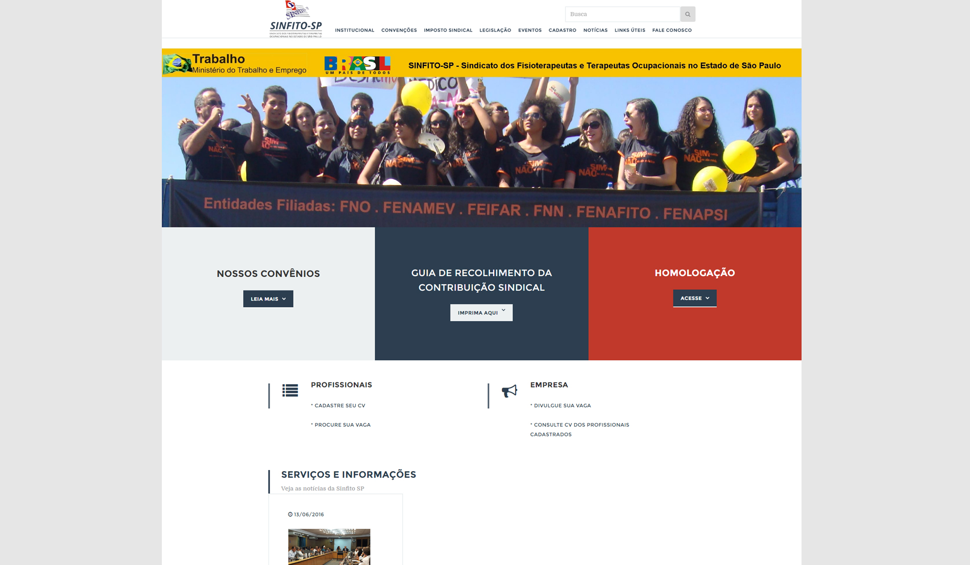 Institucionais-SINFITO SP